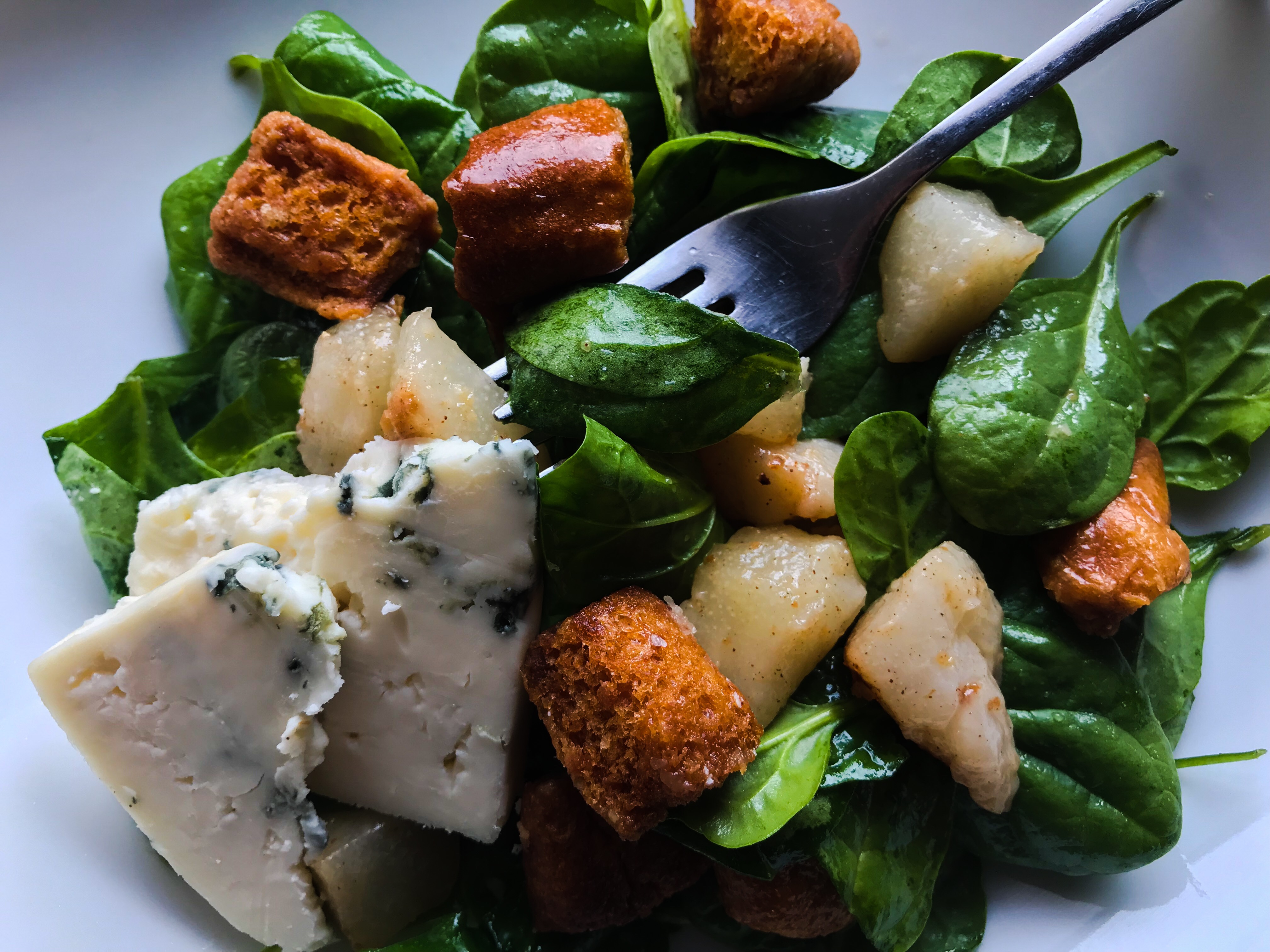 Roasted Pears and Greens
