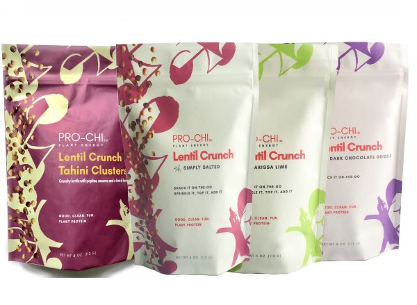 Kim Baker Foods Pro-Chi Lentil Crunch healthy snacking and cooking