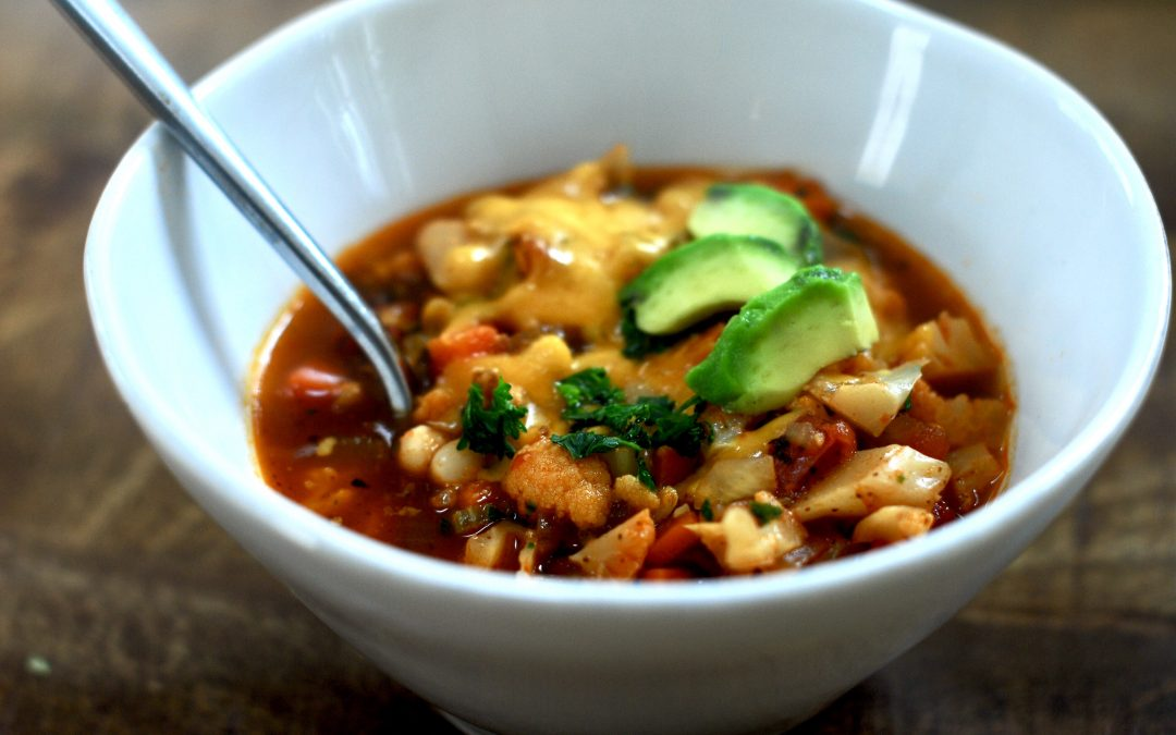 recipe for vegetarian cauliflower chili