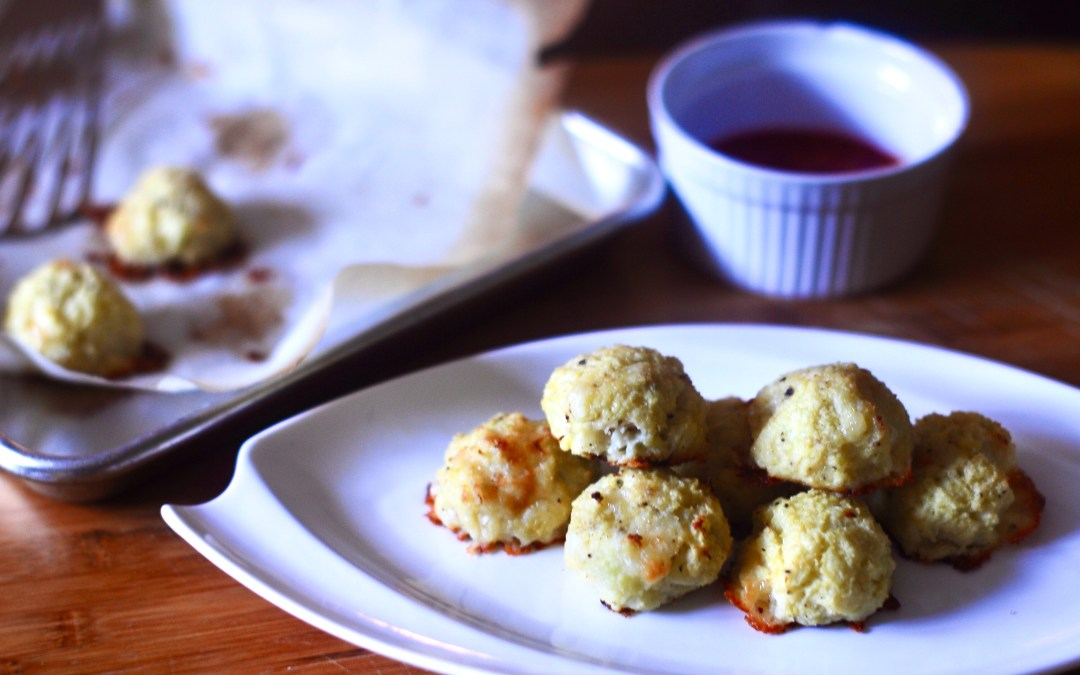 Cauliflower Rice Ball Holiday Appetizer